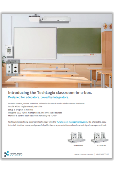 New TechLogix Brochure: CAV Education System