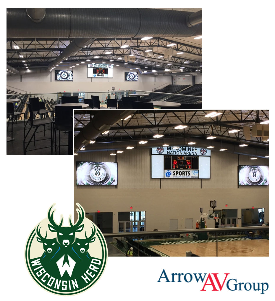 Project Profile: Fiber Optics in the Menominee Nation Arena (home of Wisconsin Herd)