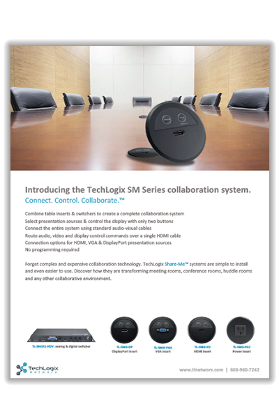 New TechLogix Brochure: SM Series Share-Me™ Solutions