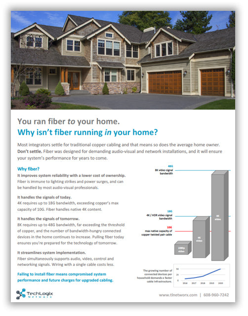 New Brochure: Explain the Benefits of Fiber to Your Customer