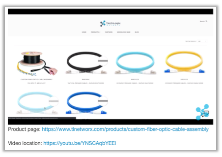 VIDEO -- How to Design a Custom Fiber Optic Cable Online