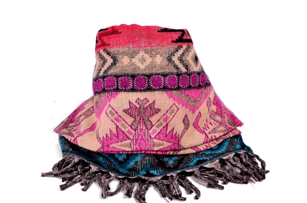 Handmade Yak Wool Ethnic Shawl - Om Ethnic Handicraft