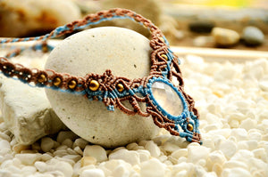 Rose Quartz Macrame Jewellery,   織途  , Om Ethnic Handicraft , macrame