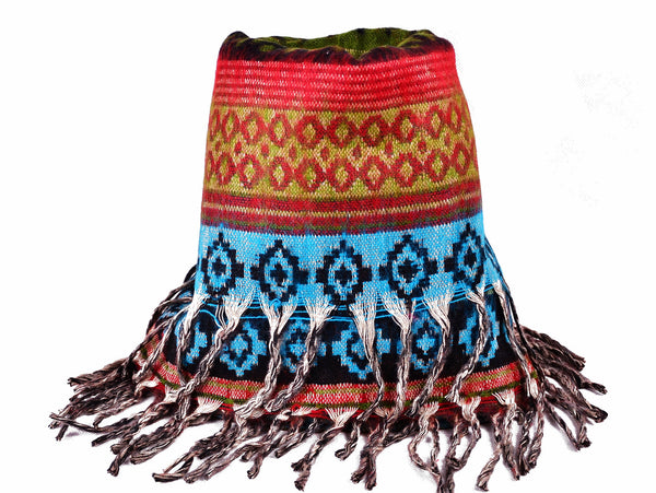 Ethnic Yak Winter Shawl, Boho Scarf - Om Ethnic Handicraft