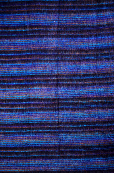 Handmade Blue Stripped Pattern Bohemian Scarf