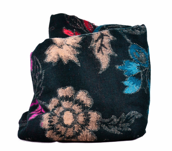 Flower Wool Scarf, Super Warm Blanket