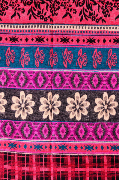 Ethnic Flower Woman Shawl/ Scarf - Om Ethnic Handicraft