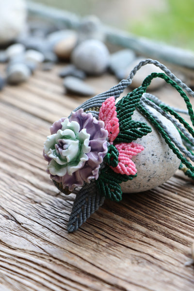 Ceramic Macrame Necklace