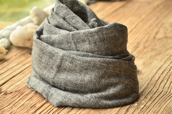 100% Cashmere Natural Plain Muffler Scarf, Unisex Lightweight  Scarf, Fairtrade