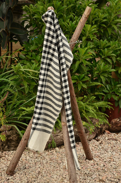 100% Cashmere Natural Thick Muffler Scarf, Unisex Scarf, Fairtrade