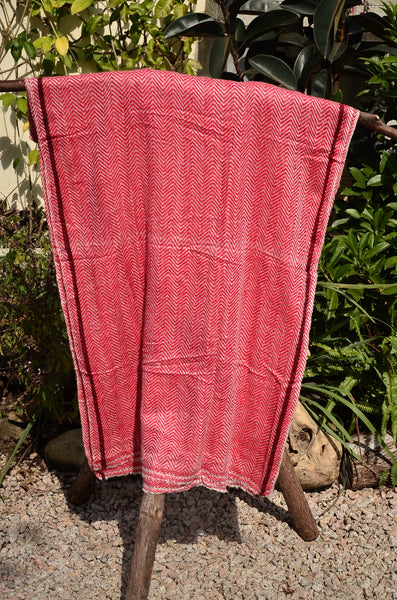 100% Superfine Cashmere Thick Zizag Scarf/Stole, Fairtrade