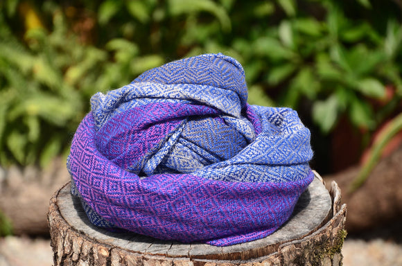 100% Superfine Cashmere Thick Double Side Scarf/Stole, Fairtrade,   織途  , Om Ethnic Handicraft , macrame