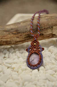 Amethyst Macrame Pendant,   織途  , Om Ethnic Handicraft , macrame