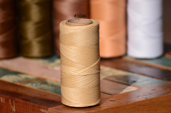 Linhasita waxed polyester cord 0.75 mm.