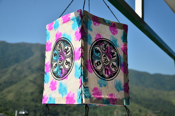 Nepalese Ethnic Paper Lantern, Ceiling Lamp, Boho Party