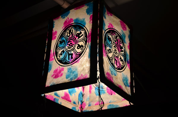 Nepalese Ethnic Paper Lantern, Ceiling Lamp, Boho Party - Om Ethnic Handicraft