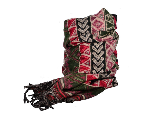 Winter Yak Wool Scarf, Ethnic Unisex Shawl