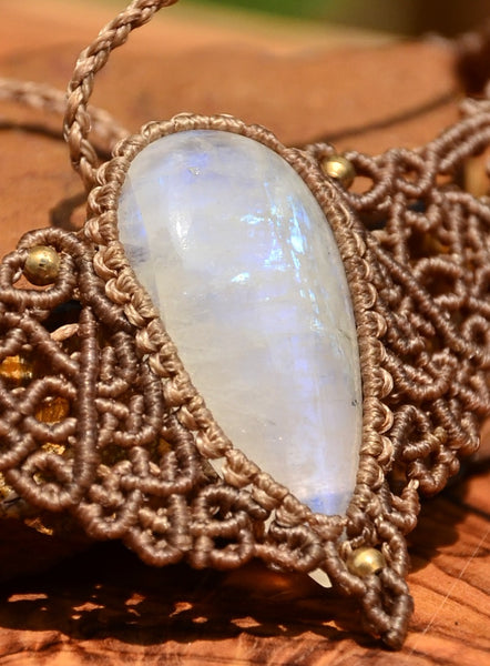 Moonstone Macrame Jewellery, necklace
