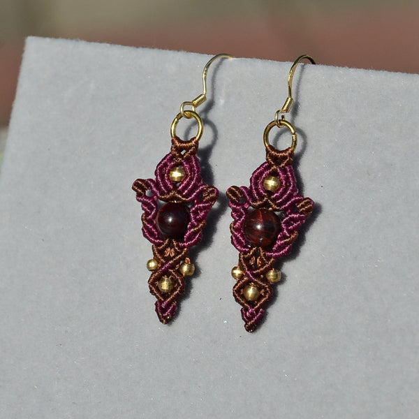 Red Tiger Eye Earring