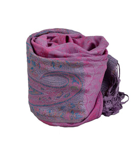 Handmade Paisley, Pashmina scarf, Pink Shawl Women, Nepal Scarf,   織途  , Om Ethnic Handicraft , macrame