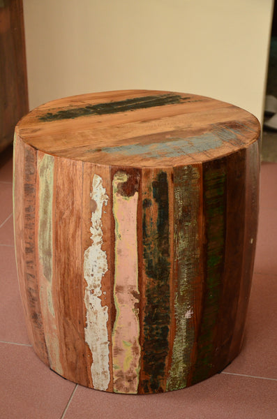 Wooden Bucket table, Rustic Furniture