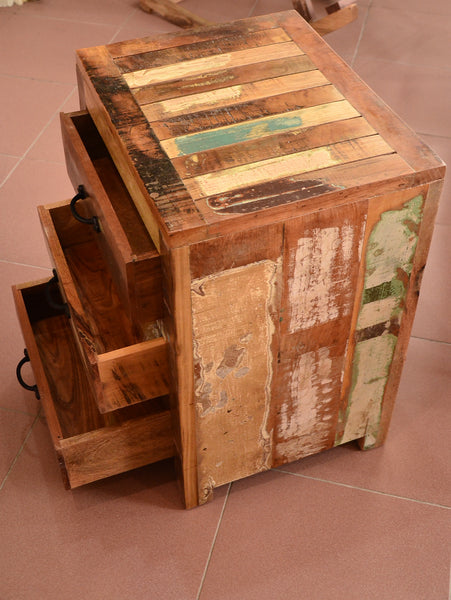 Reclaimed Wood Chest Drawer, Recycled Wood Furniture
