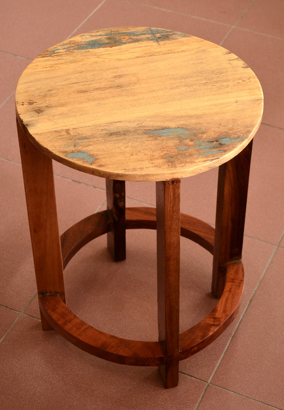 Reclaimed Wood Small Wooden table, Coffee table, Round Table
