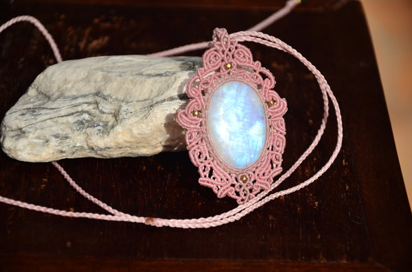 Moonstone Macrame Jewelry
