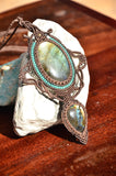 Labradorite Macrame Jewelry Necklace