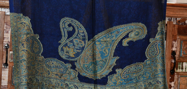 Silk & Pashmina Paisley Scarf,  Fairtrade