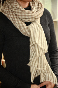 100% Cashmere Natural Scarf/Stole,  Fairtrade