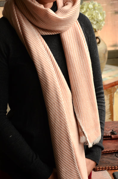 100% Cashmere Scarf/Stole,  Fairtrade