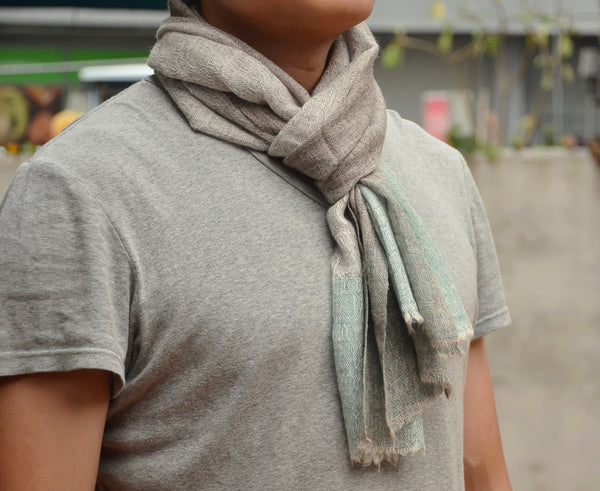 100% Cashmere Natural Scarf, Unisex Lightweight  Scarf, Fairtrade