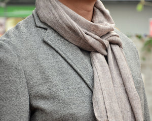 100% Cashmere Natural Plain Scarf, Unisex Lightweight  Scarf, Fairtrade