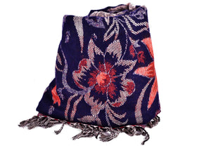 Winter Flower Women Scarf / Shawl,   織途  , Om Ethnic Handicraft , macrame