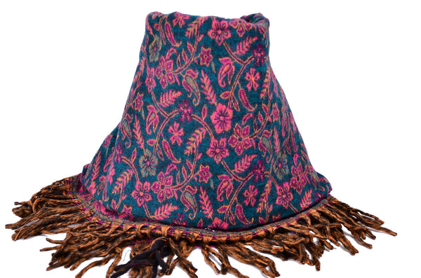 Handmade Yak Paisley Winter Woman Shawl - Om Ethnic Handicraft