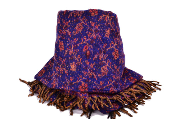 Handmade Yak Paisley Winter Woman Shawl/Scarf,   織途  , Om Ethnic Handicraft , macrame