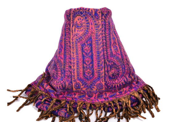 Handmade Yak Paisley Winter Woman Shawl/Scarf