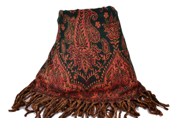 Handmade Yak Paisley Floral Scarf