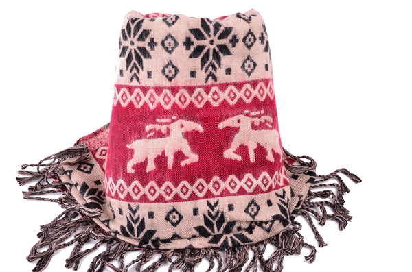 Big Blanket Scarf, Winter Double Side Scarf, Christmas gift. - Om Ethnic Handicraft