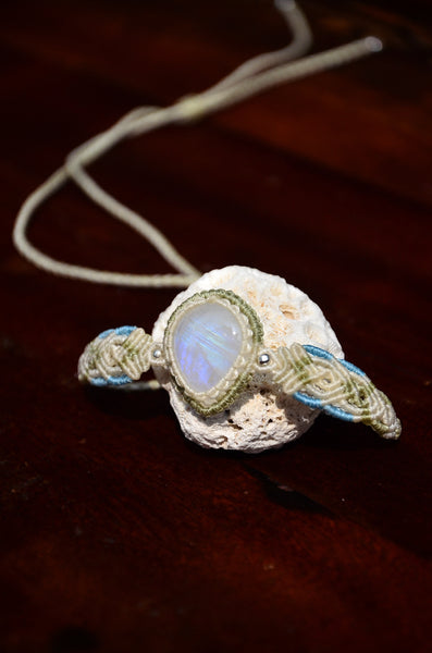 Moon stone bracelet / Necklace, 2 in one Macrame Jewelry,