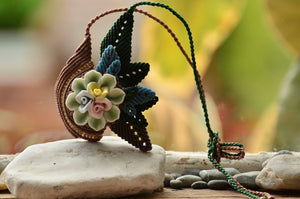 Flower Ceramic Macrame Jewellery,   織途  , Om Ethnic Handicraft , macrame