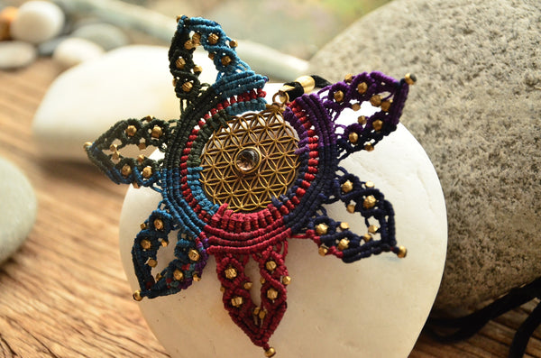 Mandala Macrame Necklace/ Pendant