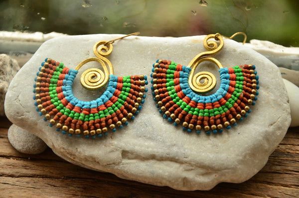 Macrame Boho Style Earrings