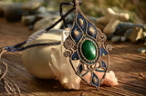 Malachite Egypt Style Macrame Jewelry,   織途  , Om Ethnic Handicraft , macrame