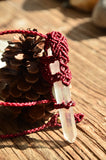 Bohemian Style, Clear Crystal & Moonstone Macrame Pendant,   織途  , Om Ethnic Handicraft , macrame
