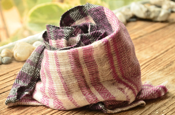 100% Cashmere Natural Dyed Muffler Scarf, Unisex Lightweight  Scarf, Fairtrade