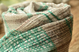 100% Cashmere Natural Dyed Jacquard Scarf, Unisex Lightweight  Scarf, Fairtrade,   織途  , Om Ethnic Handicraft , macrame