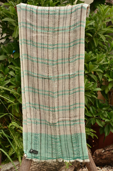 100% Cashmere Natural Dyed Jacquard Scarf, Unisex Lightweight  Scarf, Fairtrade