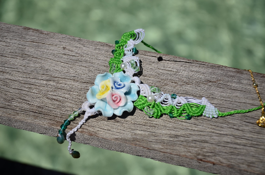 Tropical Island Flower Ceramic Macrame Jewellery